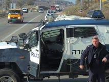 Polisen man på gatorna av Jerusalem arkivbild