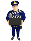 Polisen med Clapperbrädet Arkivfoton