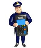 Polisen med Swap bearbetar med maskin royaltyfri illustrationer