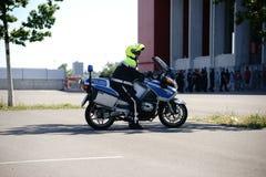 Polisen på fotbollleken FSV Mainz 05 Royaltyfri Bild