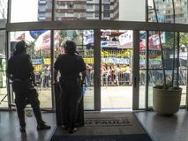 Polisen på protest Arkivbilder