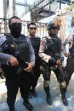 Polisen säkrar staden Royaltyfria Foton