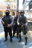 Polisen säkrar staden Royaltyfri Bild