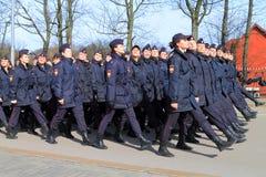 Polisen studenter av Kaliningrad det lagliga universitetet Royaltyfria Bilder
