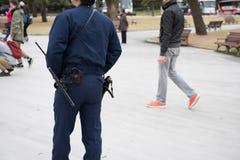 Polisen utrustar i Japan Fotografering för Bildbyråer