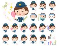 Polisen Women_beauty vektor illustrationer