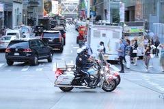 Poliser för NYPD två på motorcyklar Royaltyfria Bilder