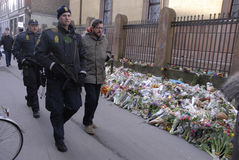 POLISGÅVOR PÅ DEN FÖRDJUPADE MINNESMÄRKEN PÅ SJEW SYNAGIGUE Fotografering för Bildbyråer