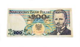 Polish 200 Zloty banknote Stock Image