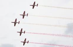 Polish aerobatic team Bialo-czerwone Iskry Stock Photography