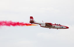 Polish aerobatic team Bialo-czerwone Iskry royalty free stock photography