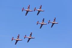 Polish Aerobatic Team demonstration Royalty Free Stock Photo