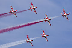 Polish Aerobatic Team demonstration Stock Images