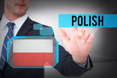 Polish against abstract white room Royalty Free Stock Image
