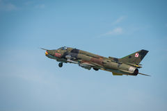 Polish Airforce SU 22 Fitter aircraft Stock Image