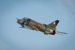 Polish Airforce SU 22 Fitter aircraft Stock Photos