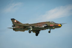 Polish Airforce SU 22 Fitter aircraft Stock Photography