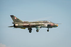 Polish Airforce SU 22 Fitter aircraft Stock Photo