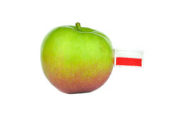 Polish apple Royalty Free Stock Image