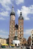 Polish Architecture. In the city of Krakow Stock Photos