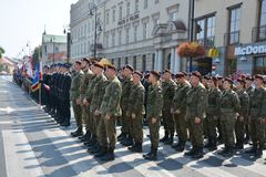 Polish Army Day Stock Images