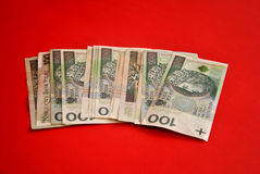 Polish bank notes Royalty Free Stock Photography