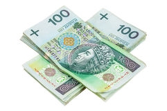 Polish banknotes of 100 PLN Stock Images