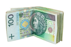 Polish banknotes of 100 PLN Royalty Free Stock Photography
