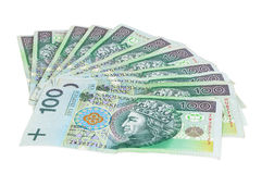 Polish banknotes of 100 PLN Royalty Free Stock Photo
