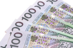 Polish banknotes in denominations of 100 Stock Photography
