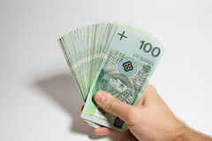 Polish banknotes Stock Photo