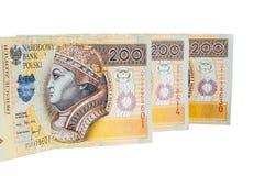 Polish banknotes of 200 PLN Stock Image