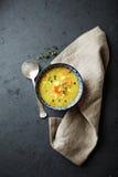 Polish barley soup with fresh marjoram Stock Image