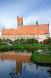 Polish basilica with ater reflection Royalty Free Stock Image
