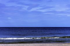 Polish beach - Baltic Sea in Lubiatowo. Kaszuby, Pomorskie, Poland stock image
