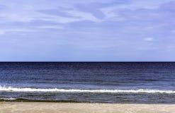 Polish beach - Baltic Sea in Lubiatowo. Kaszuby, Pomorskie, Poland royalty free stock photo