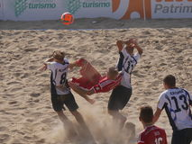 Beach Soccer World Cup Qualifier 2016 - Polish Team. Polish Beach Soccer Team FIFA Beach Soccer World Cup Qualifier for Bahamas 2017 Jesolo, Italy - September stock photo