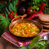 Polish beef tripe soup Stock Image