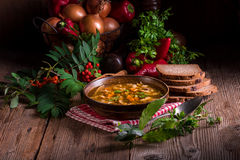 Polish beef tripe soup Royalty Free Stock Photo