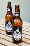 Polish beer bottles Stock Photos