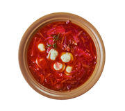 Polish beet soup with dumplings Stock Photography