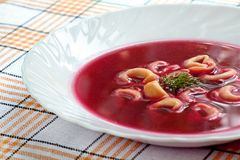 Polish beetroot soup Stock Photos