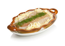 Polish boiled zander. Isolated on white by clipping path Royalty Free Stock Image