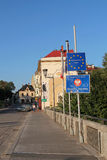Polish border with the Czech Republic in Cieszyn Stock Image