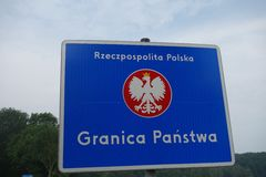 Polish border Stock Photos