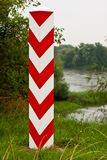 Polish Boundary Post Stock Images
