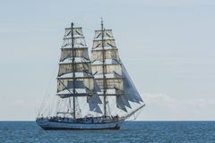 Polish brig Fryderyk Chopin sailing Stock Photography