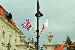 Polish-British flags Royalty Free Stock Photos