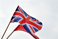 Polish-British flags Royalty Free Stock Photo
