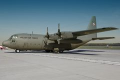 Polish C-130 Hercules Royalty Free Stock Photo